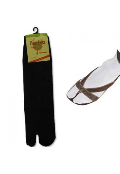 Flip-Flop Socken Bambus schwarz